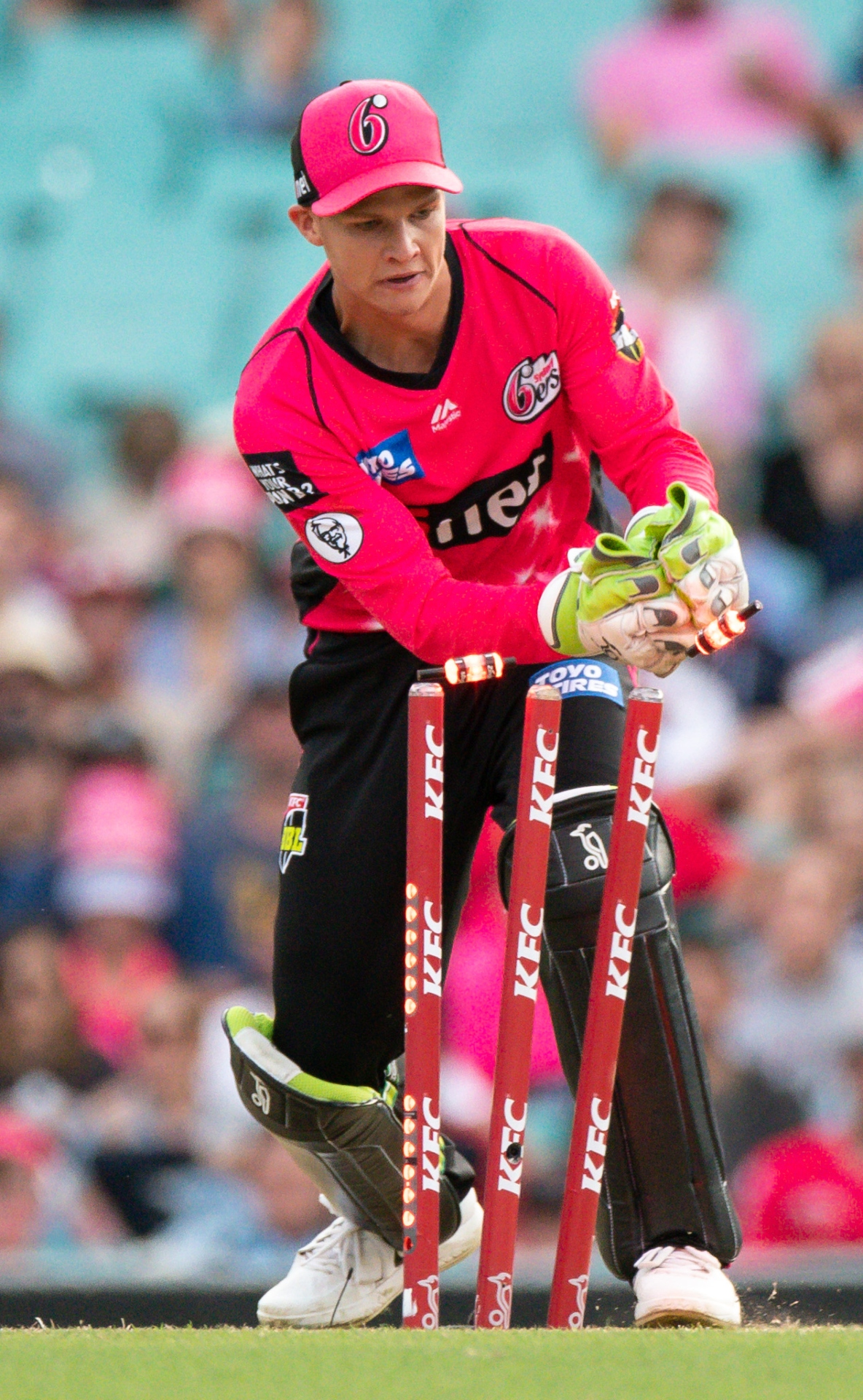 Sydney Sydney Sixers Josh Philippe runs out Hilton Cartwright (Perth Scorchers) in the BBL 08 at The Sydney Cricket Ground, December 22,2018. (Photo by Speed Media/Icon Sportswire via Getty ImagesPerth Sorchers
