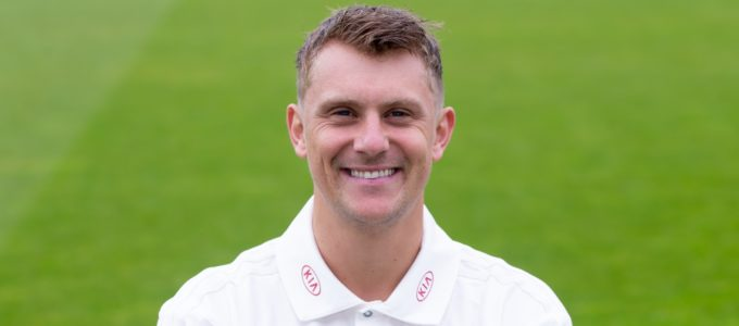 Phoenix Management Group's Scott Borthwick of Surrey at The Kia Oval on April 08, 2019 (Photo by Jordan Mansfield/Getty Images for Surrey CCC).