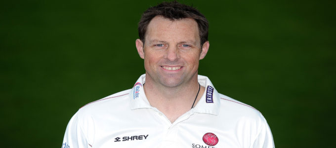Marcus Trescothick of Somerset CCC during the Somerset CCC Photocall at The Cooper Associates County Ground on April 11, 2018 in Taunton, England (Photo by Harry Trump/Getty Images).
