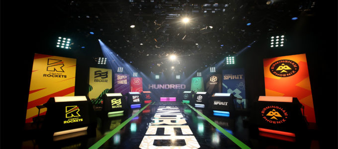 General view inside the studio ahead of The Hundred Draft at Sky Studios on October 20, 2019 in Isleworth, England. (Photo by Christopher Lee/Getty Images for ECB)