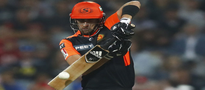Liam Livingstone of the Scorchers bats during the Big Bash League T20 match between the Melbourne Renegades and the Perth Scorchers at GMHBA Stadium in Geelong, Australia. (Photo by Daniel Pockett/Getty Images)