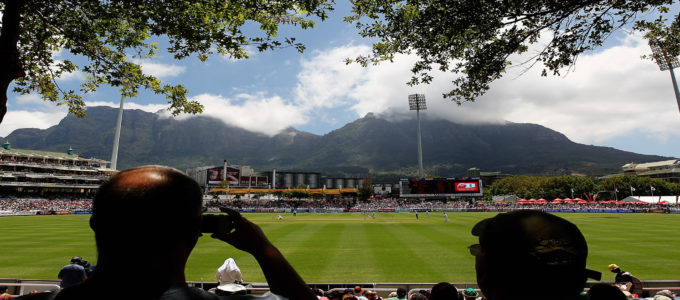 Newlands Cricket Ground where England's Ben Stokes took five catches and Joe Root scored 61 on day three of the second test vs. South Africa