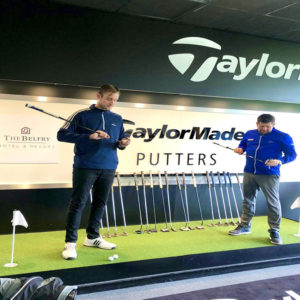 Stuart Broad fitted with TaylorMade Clubs at the UK National Fitting Centre at The Belfry.