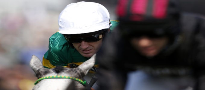 William Hill have released on social media a Man vs. Horse video starring Michael Vaughan and AP McCoy. In the video Michael races a horse ridden by 20 times champion jockey AP McCoy(Photo by Alan Crowhurst/Getty Images).