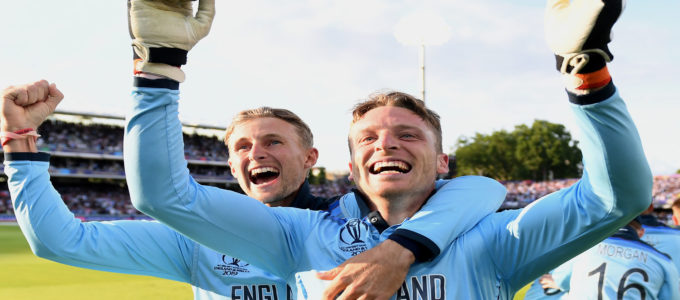Joe Root and Jos Buttler ,both Vitality Life Ambassadors have made videos for the Vitality at Home series (Photo by Gareth Copley-ICC/ICC via Getty Images)