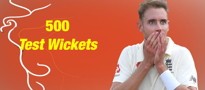 Stuart Broad 500 Test Wickets (PhoenixMedia Image Created from a Photo by Stuart Forster/Getty Images).