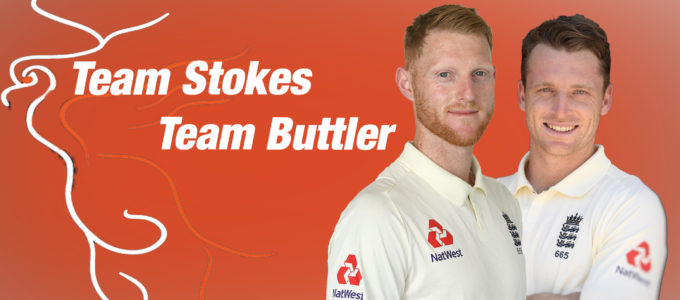 Team Stokes vs Team Buttler (PhoenixMedia Image Created from Photos by Stu Forster/Getty Images and Gareth Copley/Getty Images).