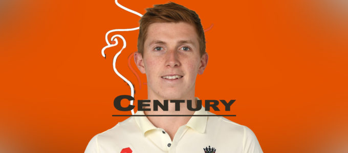 Century for Zak Crawley (PhoenixMedia Images Created from a Photo by Gareth Copley/Getty Images).