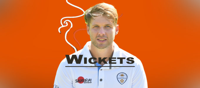 Matt Critchley Takes Wickets (PhoenixMedia Image Created from a Photo by Nathan Stirk/Getty Images).