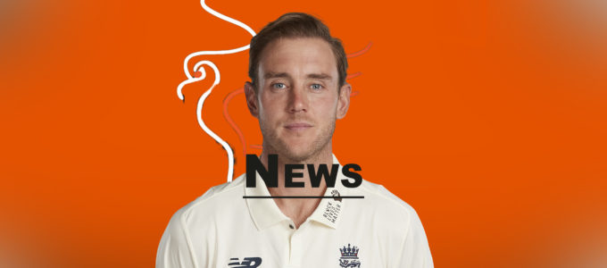 Stuart Broad Latest PMG News (PhoenixMedia Image Created from a Photo by Stu Forster/Getty Images).