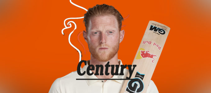 Ben Stokes Century (PhoenixMedia Image Created from a Photo by Stu Forster/Getty Images).