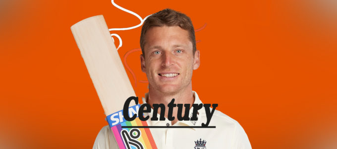 Jos Buttler Century (PhoenixMedia Image Created from a Photo by Stu Forster/Getty Images).