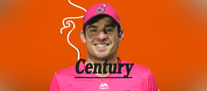Moises Henriques Century (PhoenixMedia Image Created from a Photo by Jason McCawley - CA/Cricket Australia via Getty Images).