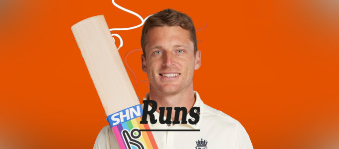 Jos Buttler Runs (PhoenixMedia Image Created from a Photo by Stu Forster/Getty Images).