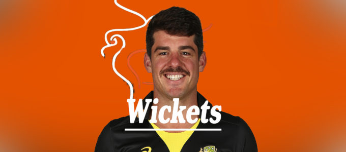 Moises Henriques Wickets (PheonixMedia Image Created from a Photo by Jason McCawley/Getty Images).