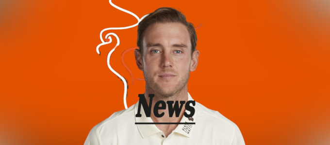 Stuart Broad PMG News (Pho . enixMedia Image Created from a Photo by Stu Forster/Getty Images).