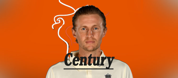 Joe Root Century (PhoenixMedia Image Created from a Photo by Gareth Copley/Getty Images).