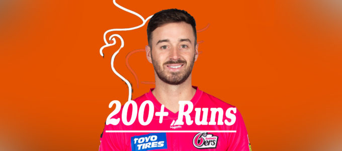 James Vince 200+ Runs (PhoenixMedia Image Created from a Photo by Mark Metcalfe/Getty Images).