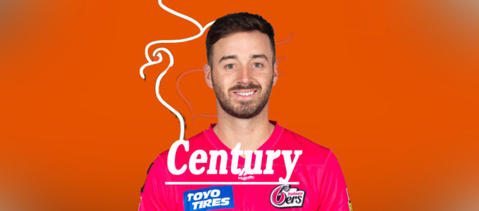 James Vince Century (PhoenixMedia Image Created from a Photo by Mark Metcalfe/Getty Images).
