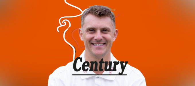 Scott Borthwick Century (PhoenixMedia Image Created from a Photo by Jordan Mansfield/Getty Images for Surrey CCC).