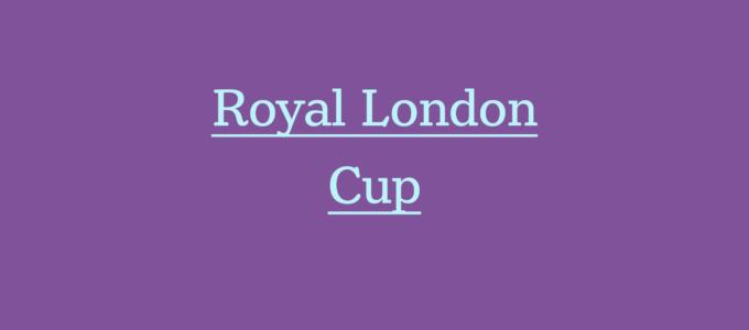Royal London Cup Report (PhoenixMedia Image).